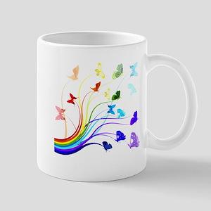 Butterflies and Rainbows Mug
