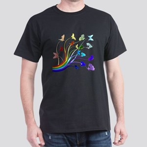 Butterflies and Rainbows Dark T-Shirt