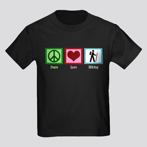 Peace Love Hike Kids Dark T-Shirt