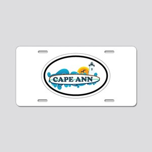 Cape Ann - Oval Design. Aluminum License Plate