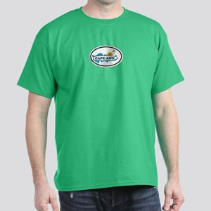 Cape Ann - Oval Design. Dark T-Shirt