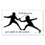 Foil Point Sticker (Rectangle 10 pk)