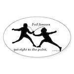 Foil Point Sticker (Oval 50 pk)