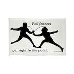Foil Point Rectangle Magnet (100 pack)