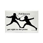 Foil Point Rectangle Magnet (10 pack)
