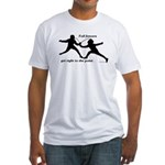 Foil Point Fitted T-Shirt
