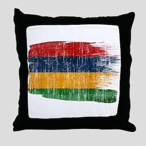 Mauritius Flag Throw Pillow