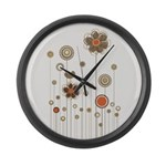 Trendy Floral Decor Large Wall Clock
