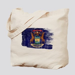Michigan Flag Tote Bag
