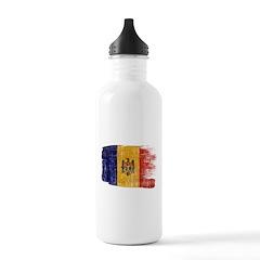 Moldova Flag Water Bottle