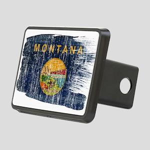 Montana Flag Rectangular Hitch Cover