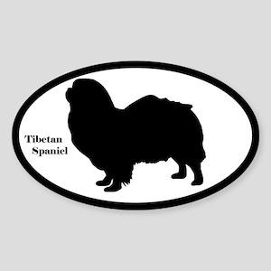 Tibetan Spaniel Silhouette Sticker