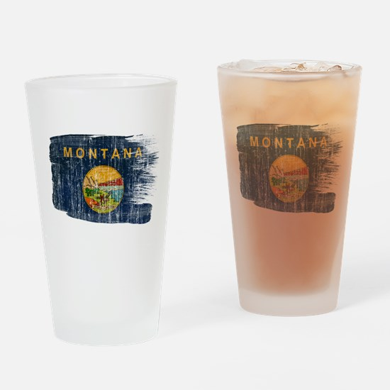 Montana Flag Drinking Glass