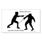 Sabre Blade Sticker (Rectangle 50 pk)