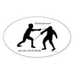 Sabre Blade Sticker (Oval 50 pk)