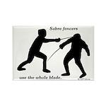 Sabre Blade Rectangle Magnet (100 pack)