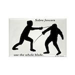 Sabre Blade Rectangle Magnet (10 pack)
