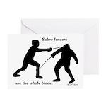 Sabre Blade Greeting Cards (Pk of 10)