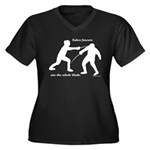 Sabre Blade Women's Plus Size V-Neck Dark T-Shirt