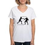 Sabre Blade Women's V-Neck T-Shirt