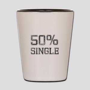 50 Percent Single Black.png Shot Glass