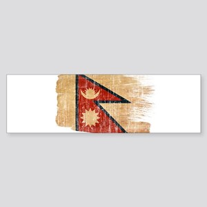 Nepal Flag Sticker (Bumper)