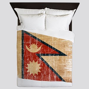 Nepal Flag Queen Duvet