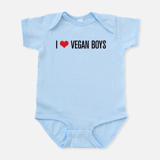 I Love Vegan Boys Infant Bodysuit