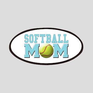 softball mom(white) Patches