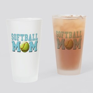 Softball MOM Pint Glass