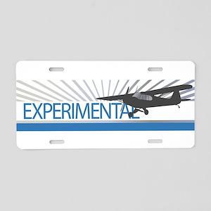 Aircraft Experimental Aluminum License Plate