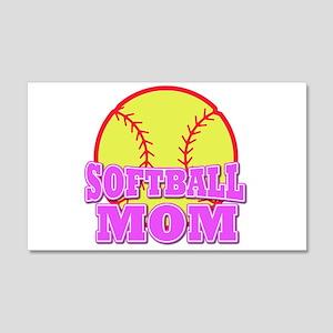 Softball mom 22x14 Wall Peel