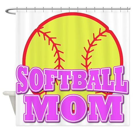 Softball mom Shower Curtain