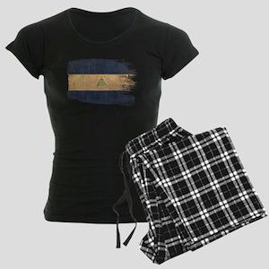 Nicaragua Flag Women's Dark Pajamas