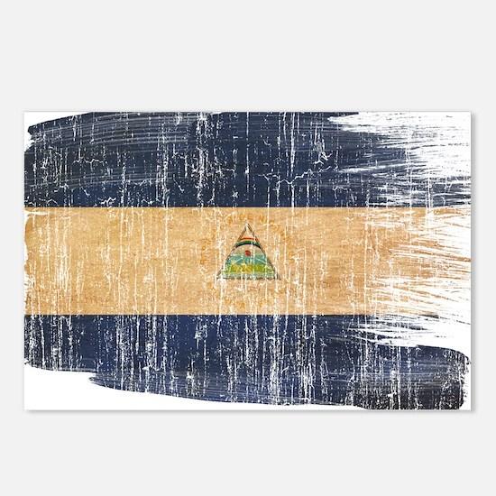 Nicaragua Flag Postcards (Package of 8)