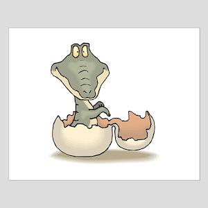 Alligator Hatchling Green Small Poster