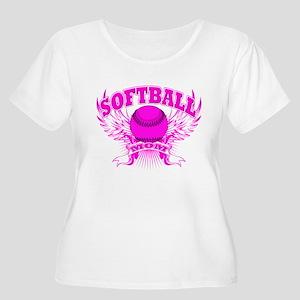 Softball mom Women's Plus Size Scoop Neck T-Shirt