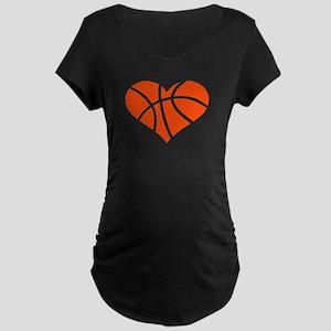Basketball heart Maternity Dark T-Shirt