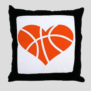 Basketball heart Throw Pillow