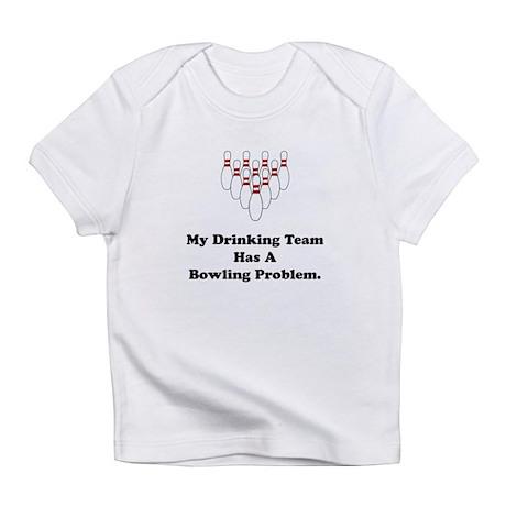 Bowling Drinking Black Infant T-Shirt