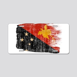 Papua new Guinea Flag Aluminum License Plate