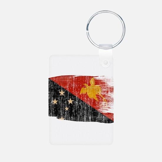 Papua new Guinea Flag Keychains