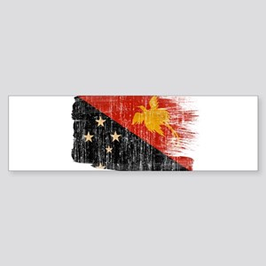 Papua new Guinea Flag Sticker (Bumper)