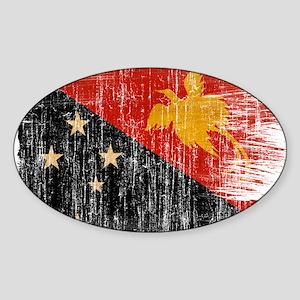 Papua new Guinea Flag Sticker (Oval)