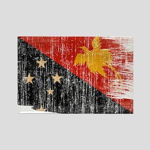 Papua new Guinea Flag Rectangle Magnet