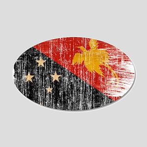 Papua new Guinea Flag 22x14 Oval Wall Peel