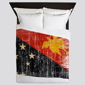 Papua new Guinea Flag Queen Duvet