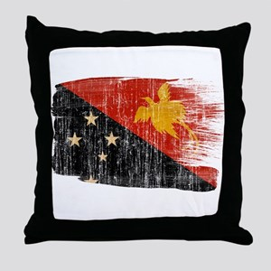 Papua new Guinea Flag Throw Pillow