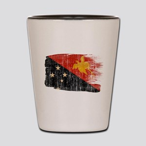 Papua new Guinea Flag Shot Glass