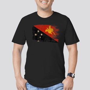 Papua new Guinea Flag Men's Fitted T-Shirt (dark)
